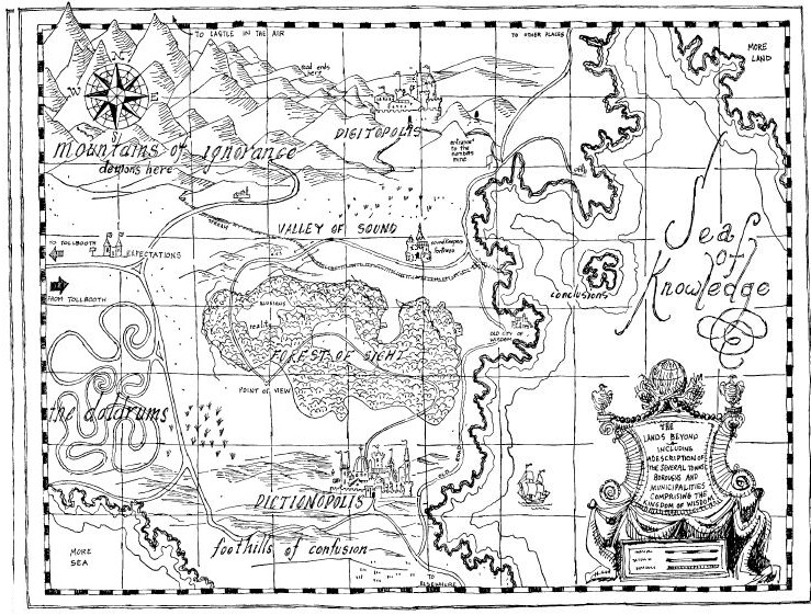 Phantom Tollbooth Map The Phantom Tollbooth map