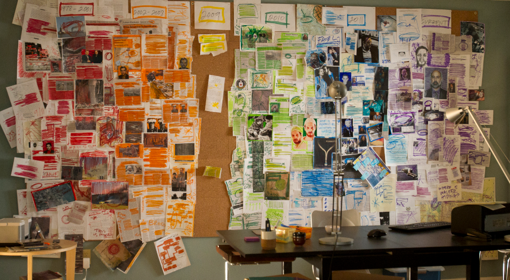 Homeland - Carrie's Wall of notes