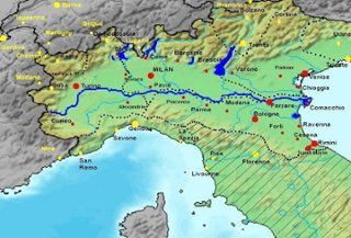 Laura Bs Roman Empire Map ThingLink - Map of ancient rome po river