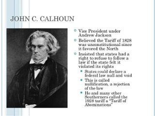 andrew jackson tariffs and nullification crisis
