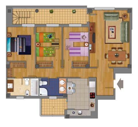 Federico s bed thinglink - Casas unifamiliares planos ...