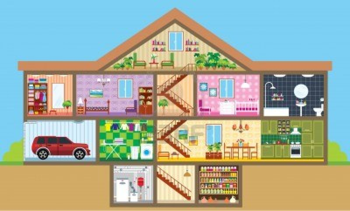 Crime scene thinglink - Plan de coupe maison ...