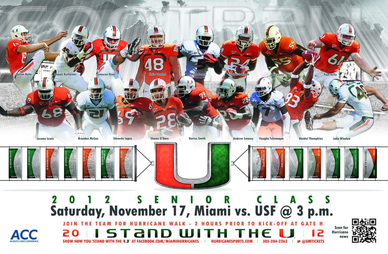 Miami's 2012 Senior Class Plays its Final Home Game Saturday