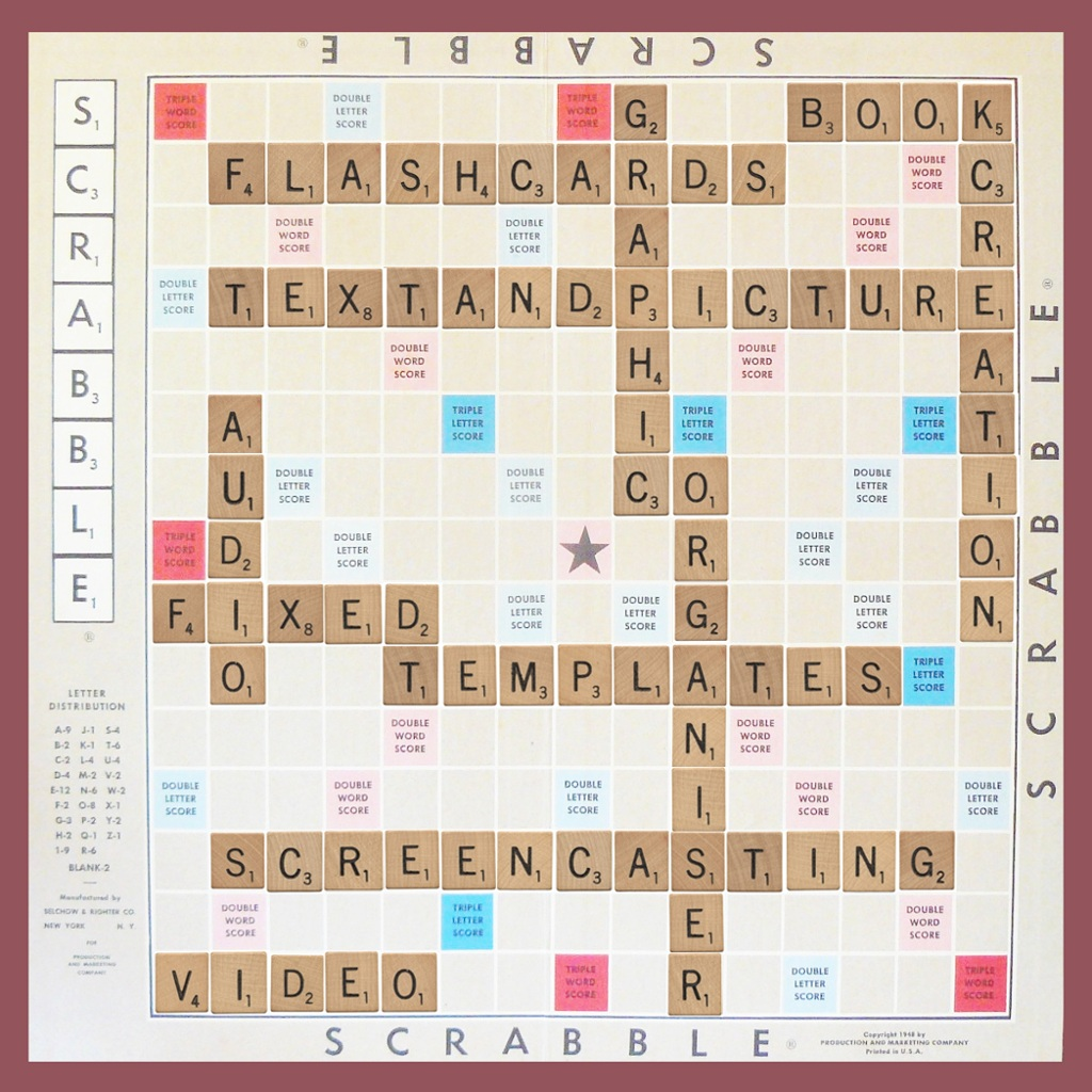 Ivocabulary thinglink for Blank scrabble board template
