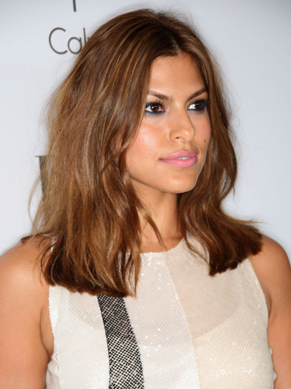 Eva Mendes Easy Long Layered Hairstyle for Straight Hair photo