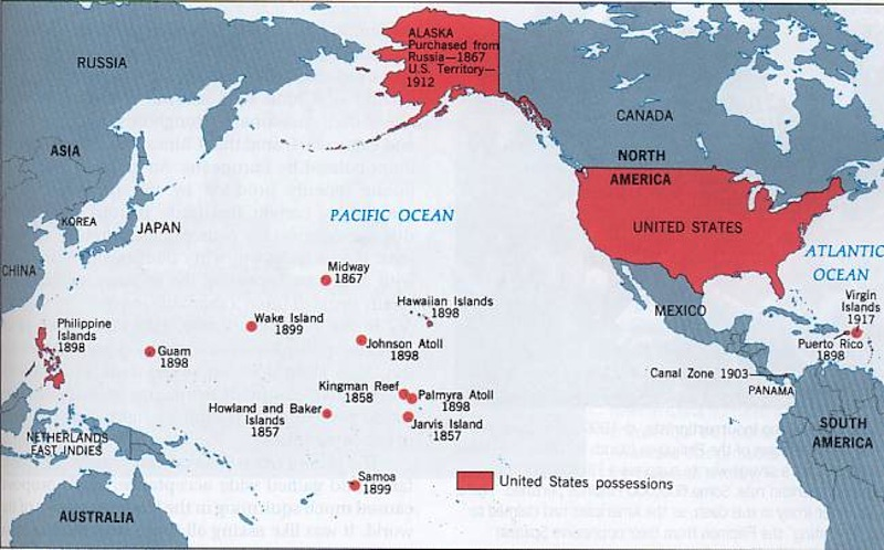 Chloes US Imperialism Map ThingLink - Us pacific islands map