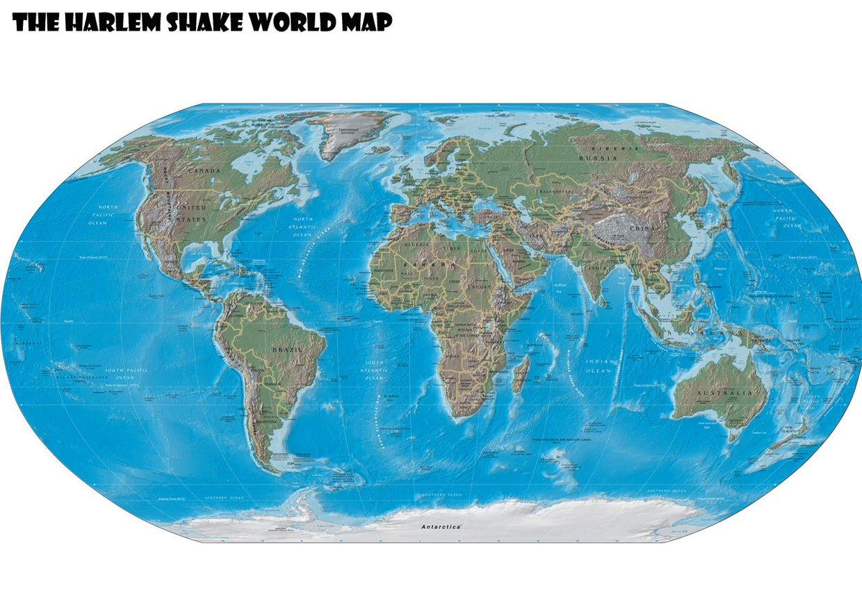 The Harlem Shake World Map