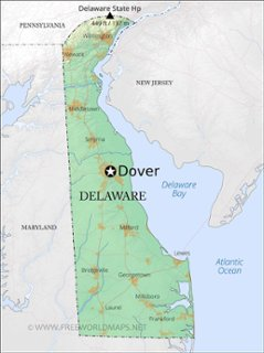 delaware physical features