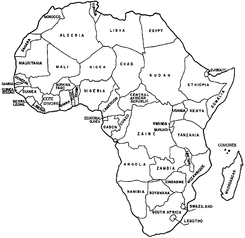 Tactueux image within map of africa printable
