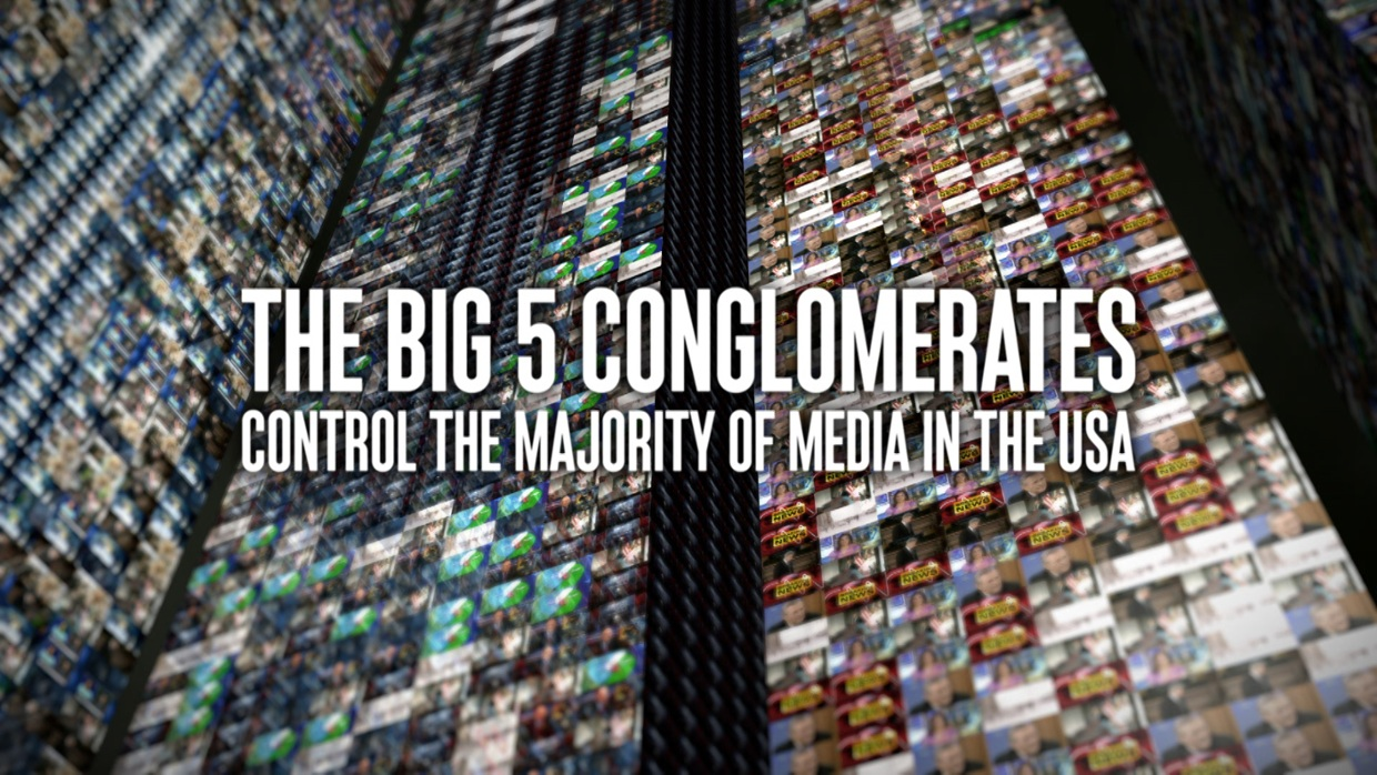 big 6 media conglomerates The media big six by be invited onto major tv broadcast networks to discuss the need for vigorous antitrust enforcement against the biggest media conglomerates.