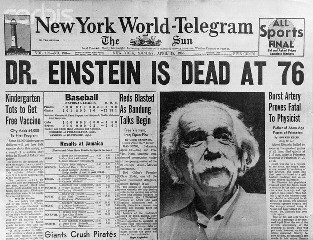 Einstein newspaper