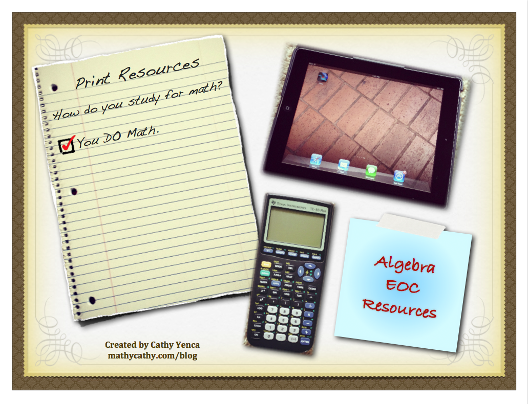 Algebra EOC Resources