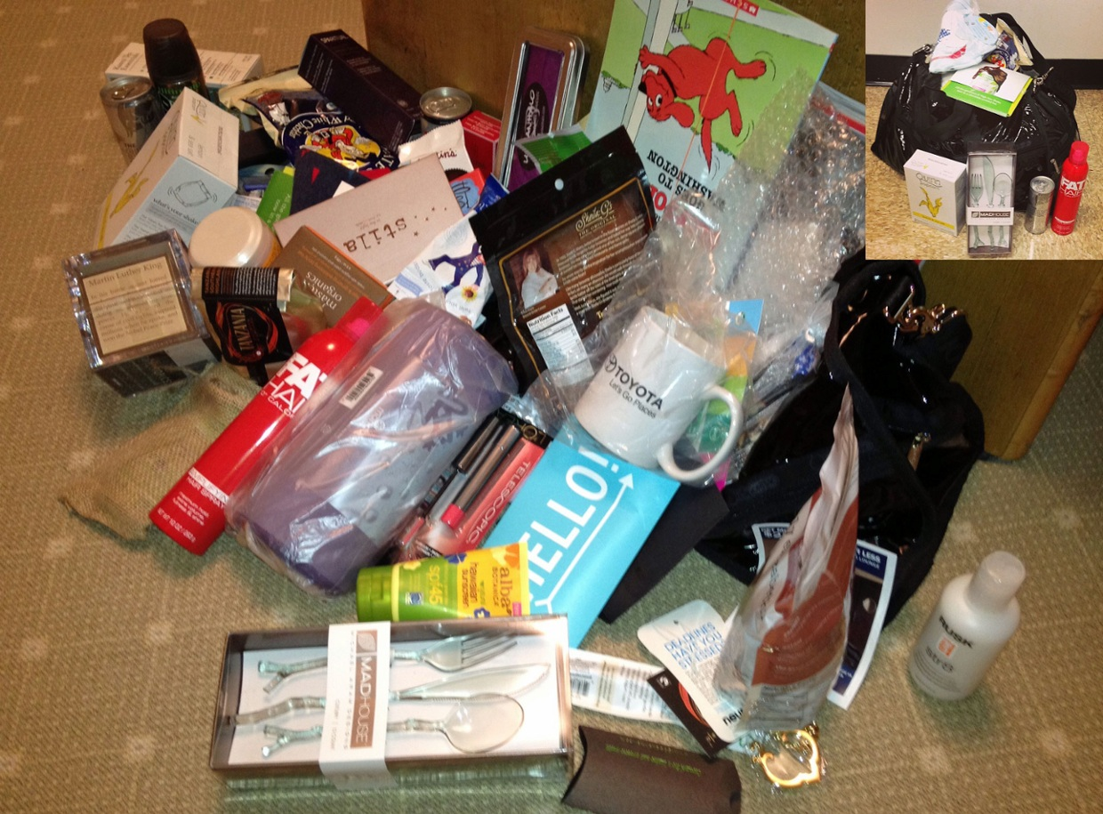 Deconstructing the Time/People WHCD swag bag