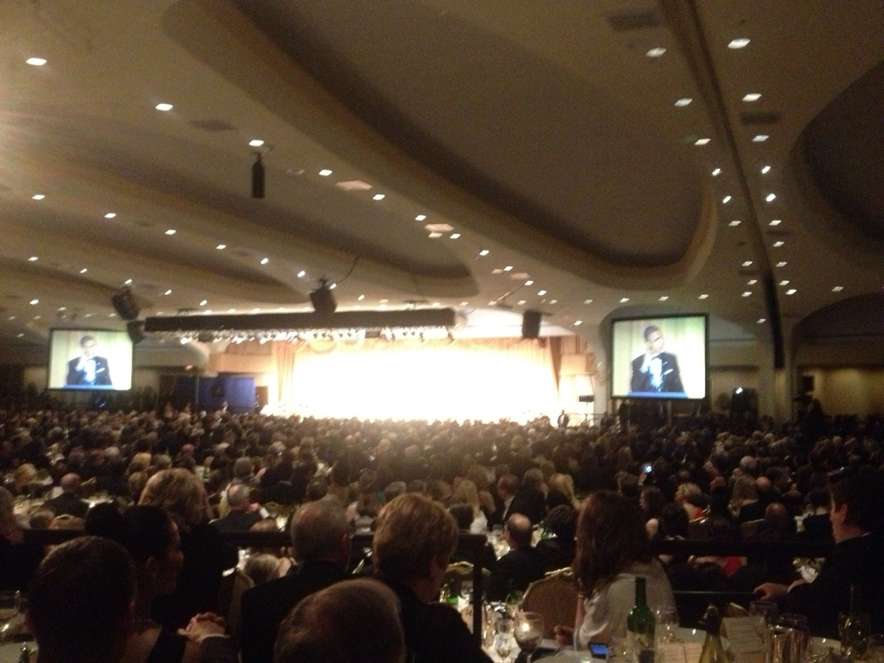 obama winding up crowds at #whcd