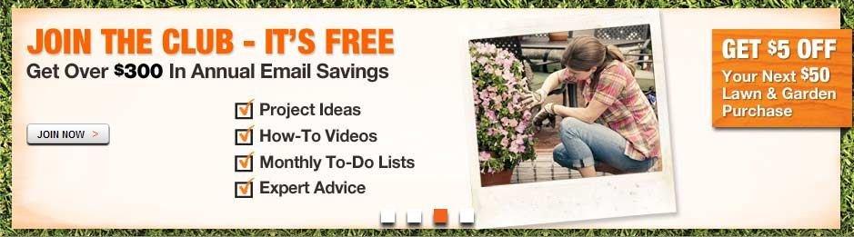 Home depot garden club benefits