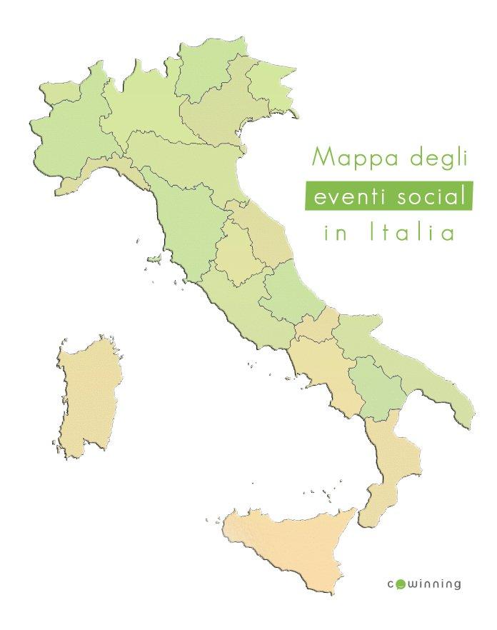 La mappa degli eventi Social in Italia