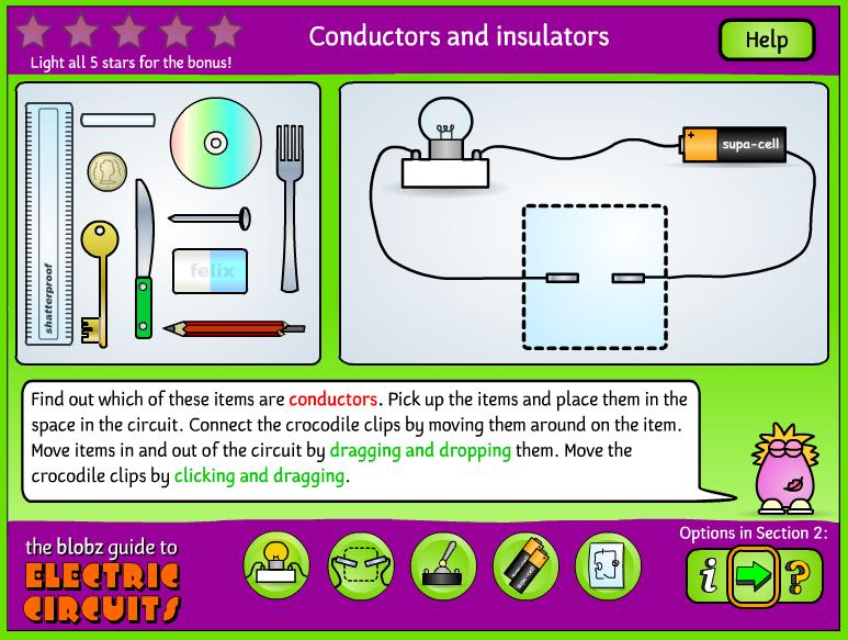 Electrical Circuit Conductors : Conductors and insulators thinglink