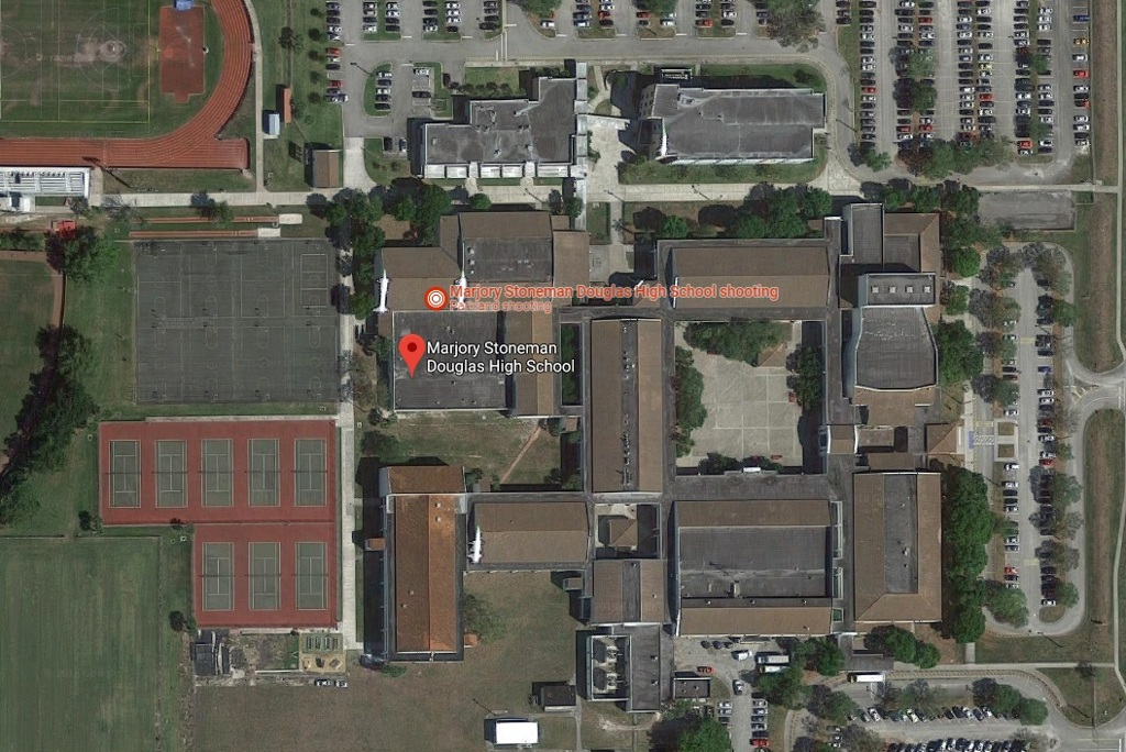 Google map Timeline of the shooting at