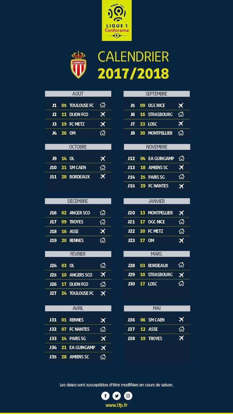 Calendrier Ligue De Champion.Football Ligue 1 Le Calendrier De La Saison 2017 2018 Devoile