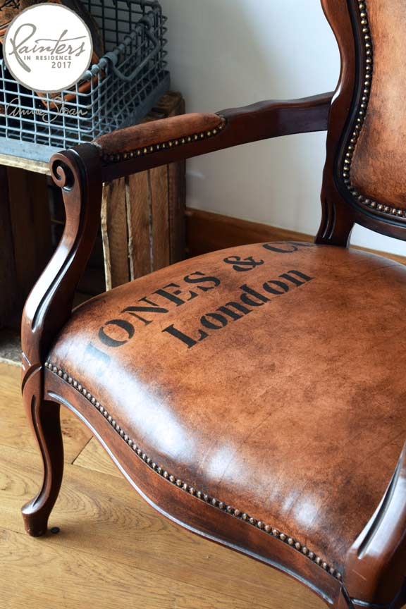 Once Painted, The Whole Chair Was Waxed First With Clear Chalk Paint® Wax,  Then Dark Chalk Paint® Wax For A Leather Look Effect.