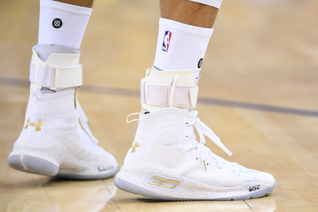 ce5550dc4ca2 On Steph debuting the sneaker in the 2017 NBA Finals. ""