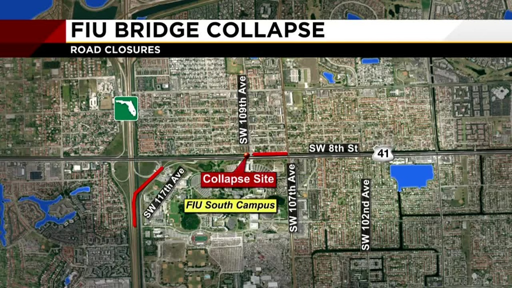 Maryland Map Testing%0A A white van was trapped under the rubble of a pedestrian bridge under  construction Thursday in MiamiDade  Photo by Joe Raedle Getty Images