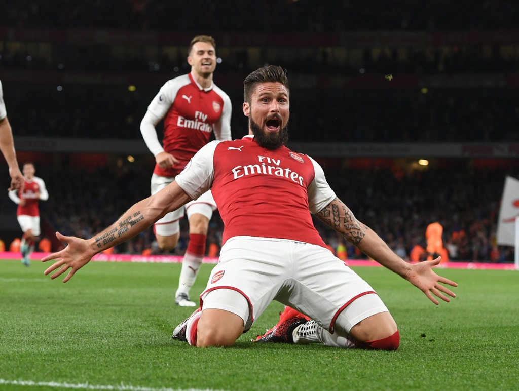 8bb77aed7dd Olivier Giroud is one short of a century of goals for the club.