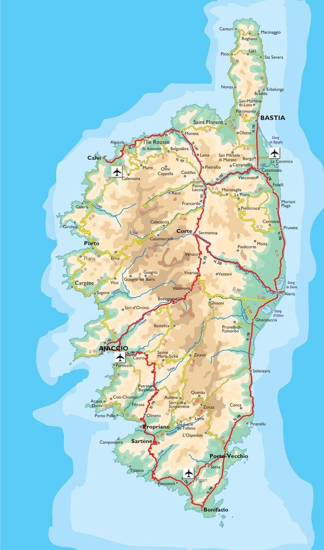 Carte Corse Ajaccio.La Carte Des Plu Rejetes En Corse Depuis 2010 France 3 Corse Viastella