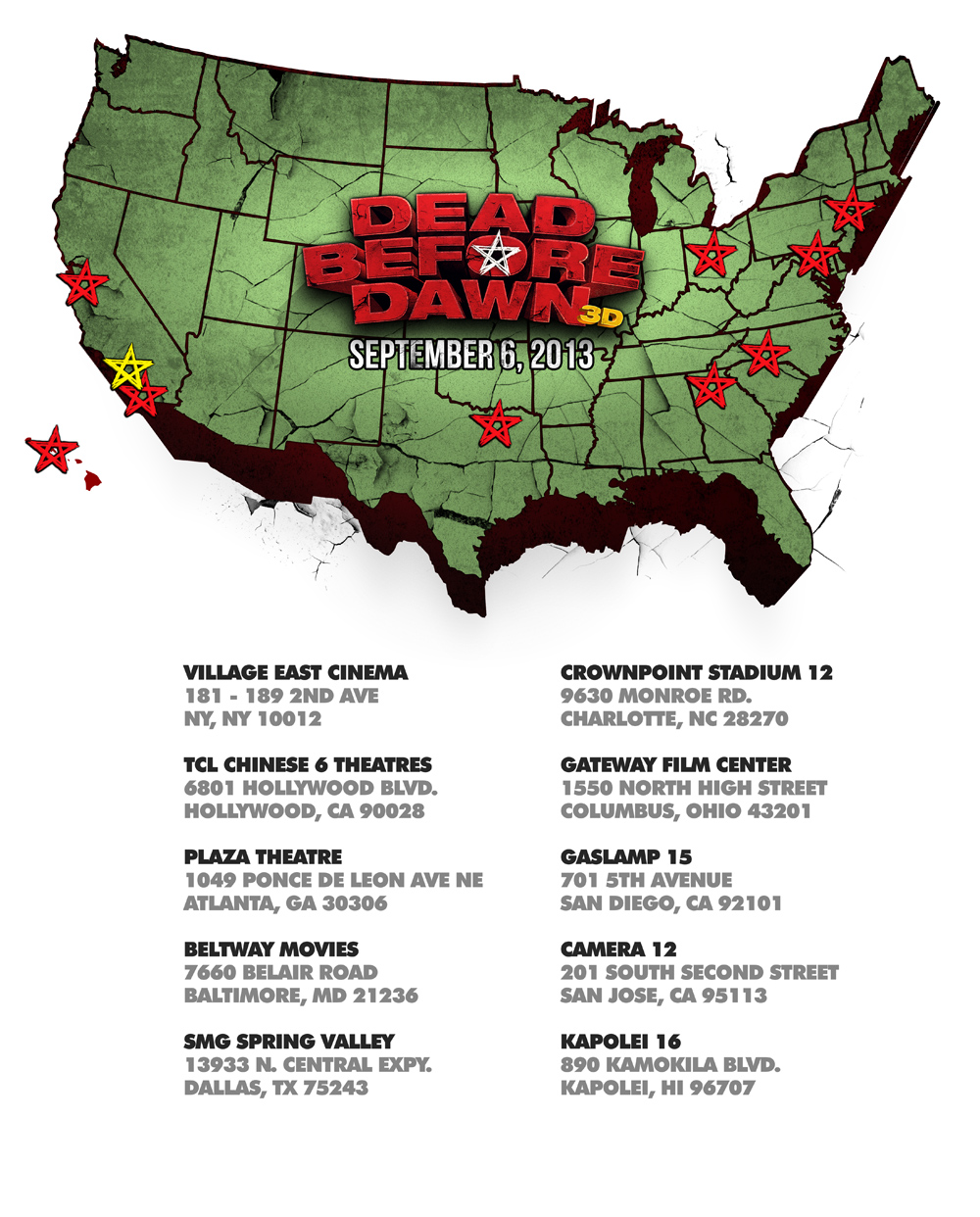 DEAD BEFORE DAWN (3D) - September 6 Theater Locator