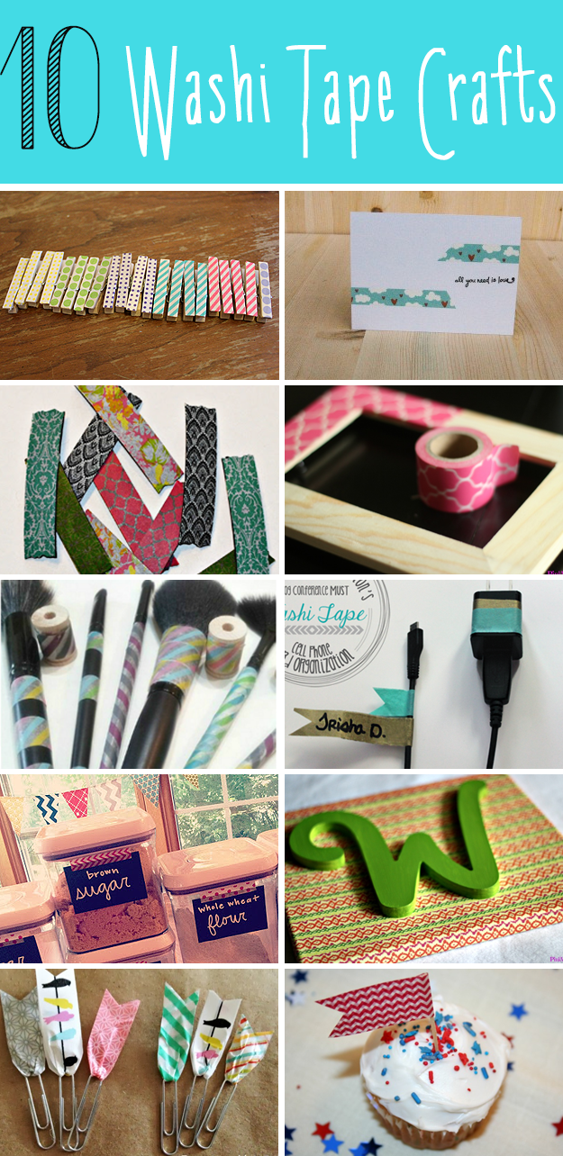 10 Washi Tape Crafts
