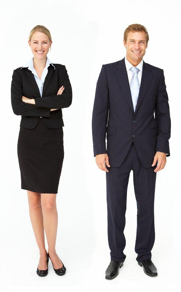 Professional attire (men and women)