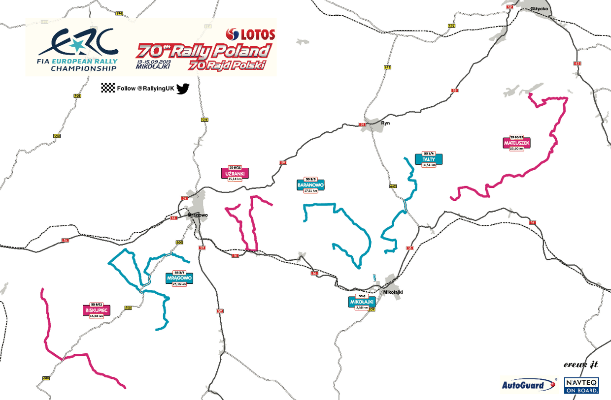 Rally Poland Interactive Stage Map ThingLink - Wrc sweden 2015 map
