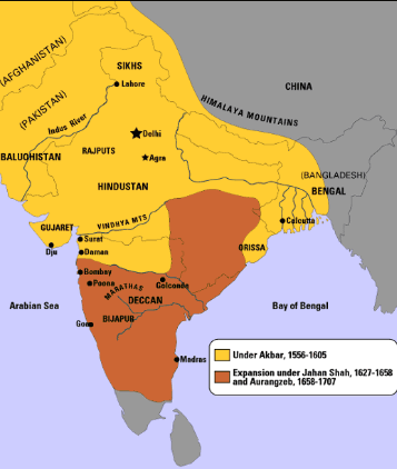 map of mughal empire under akbars reign thinglink