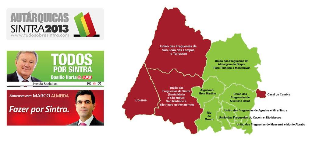 mapa das freguesias de sintra Tudo sobre Sintra: Conheça os presidentes das juntas de freguesia  mapa das freguesias de sintra