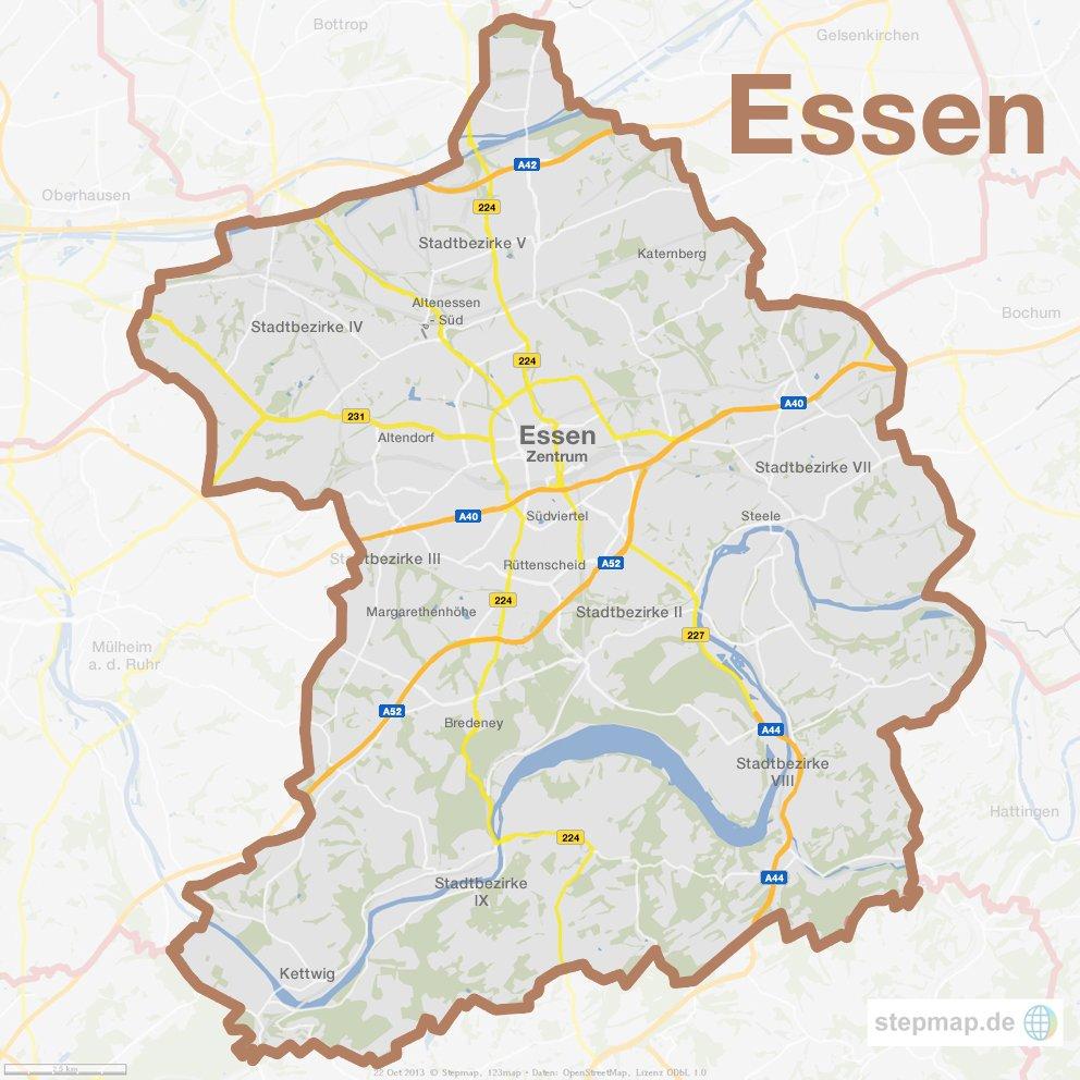 Karte Essen.Stadtkarten Von Essen Stadtteile Lieblingsorte Luftbilder Waz