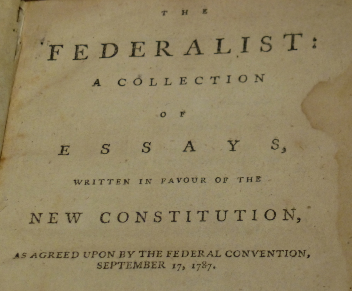 1787 - 1788 the federalist essay The federalist papers refers to a series of eighty-five articles supporting the ratification of the us constitution, which were published in some of the leading dailies in the united states in 1787 and 1788.
