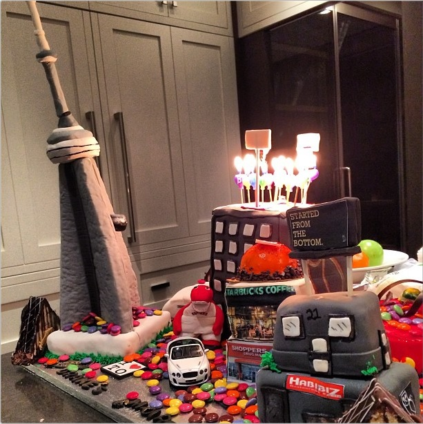 Deconstructing Drakes Toronto Themed Birthday Cake Citylab