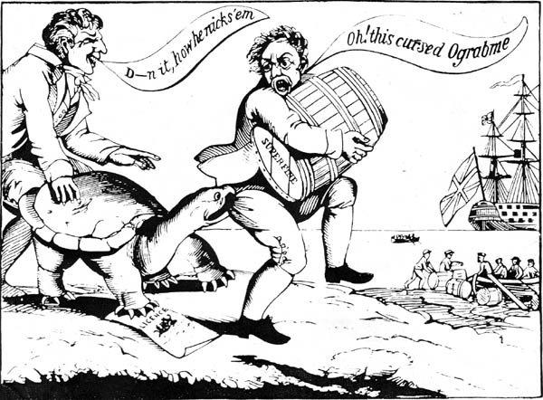Embargo Act 1807 Cartoon Thinglink