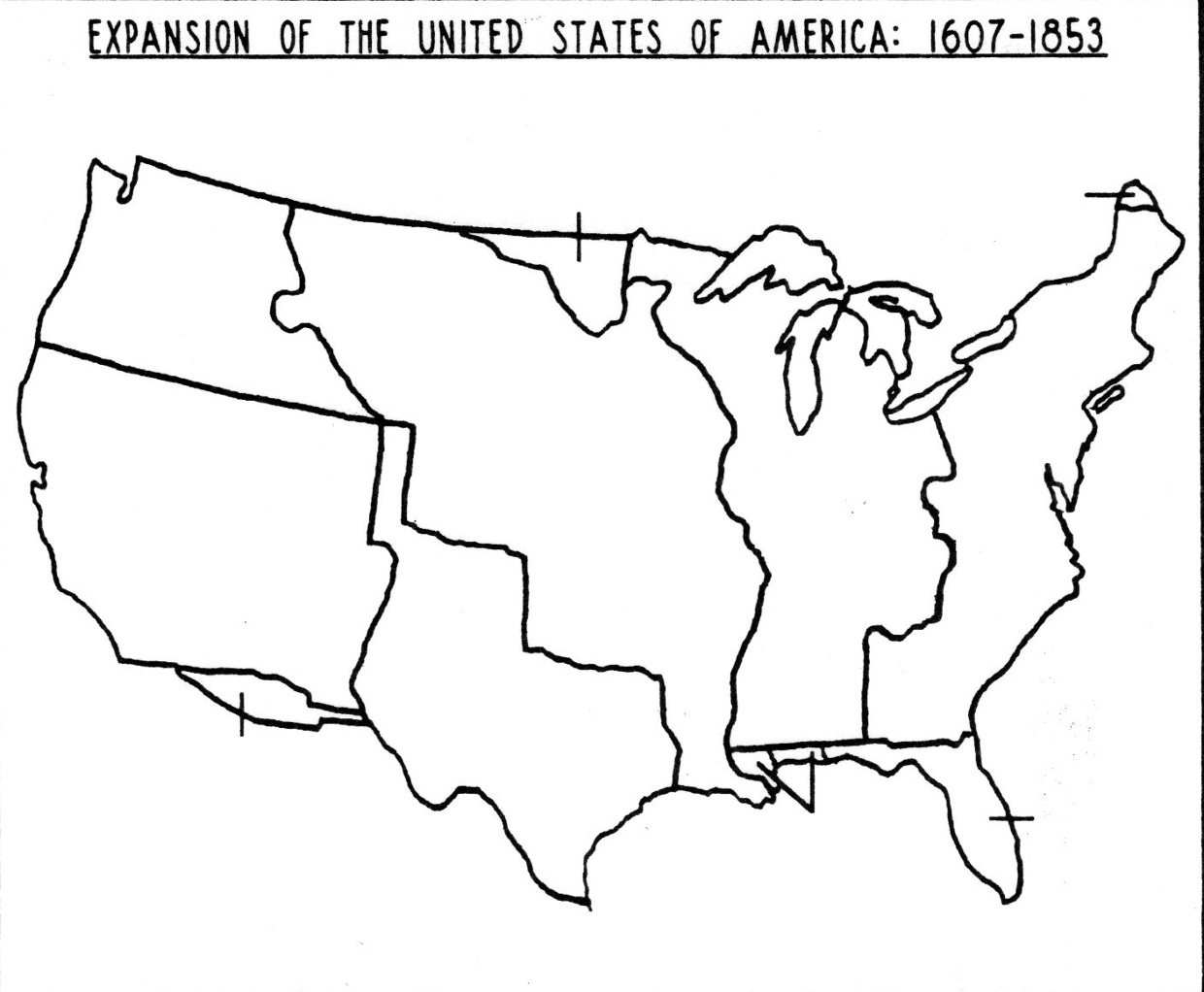 Territorial Acquisitions ThingLink - Us land acquisition map