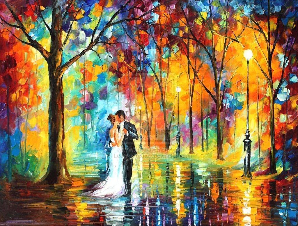 Leonid Afremov- Rainy Wedding. Oil Painting. , Article ab...