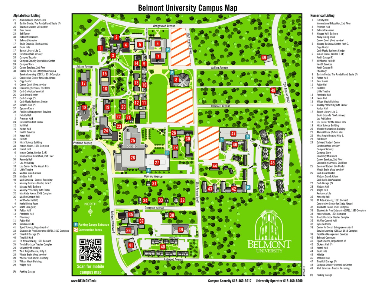 Belmont University Campus Map ThingLink