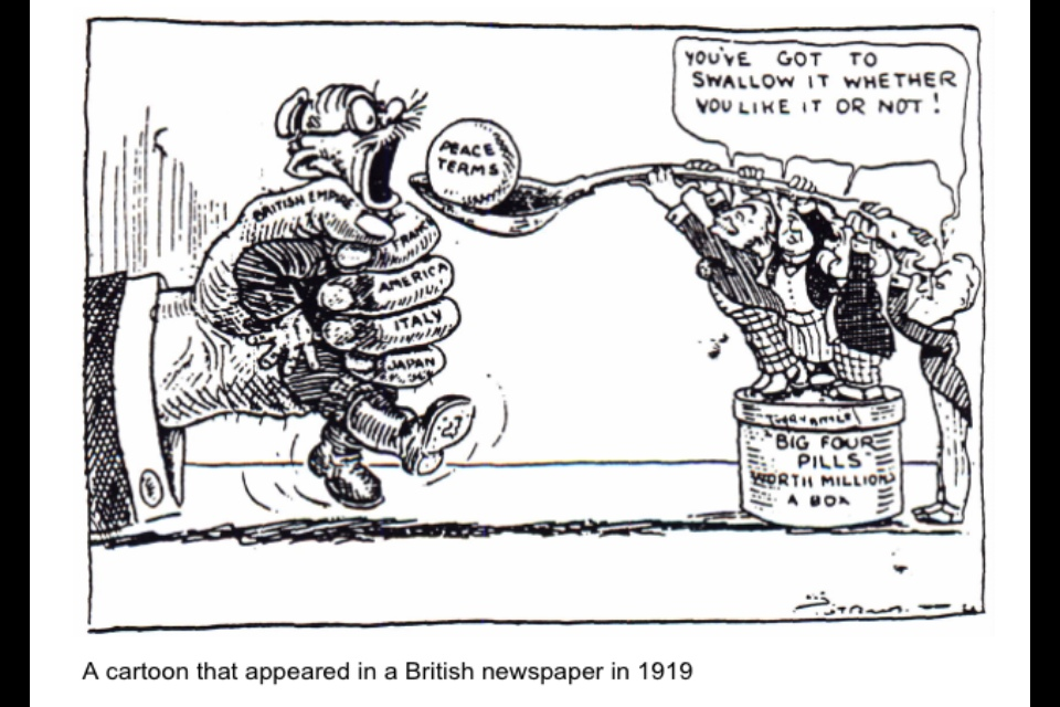Treaty of Versailles, Bitter Pill cartoon