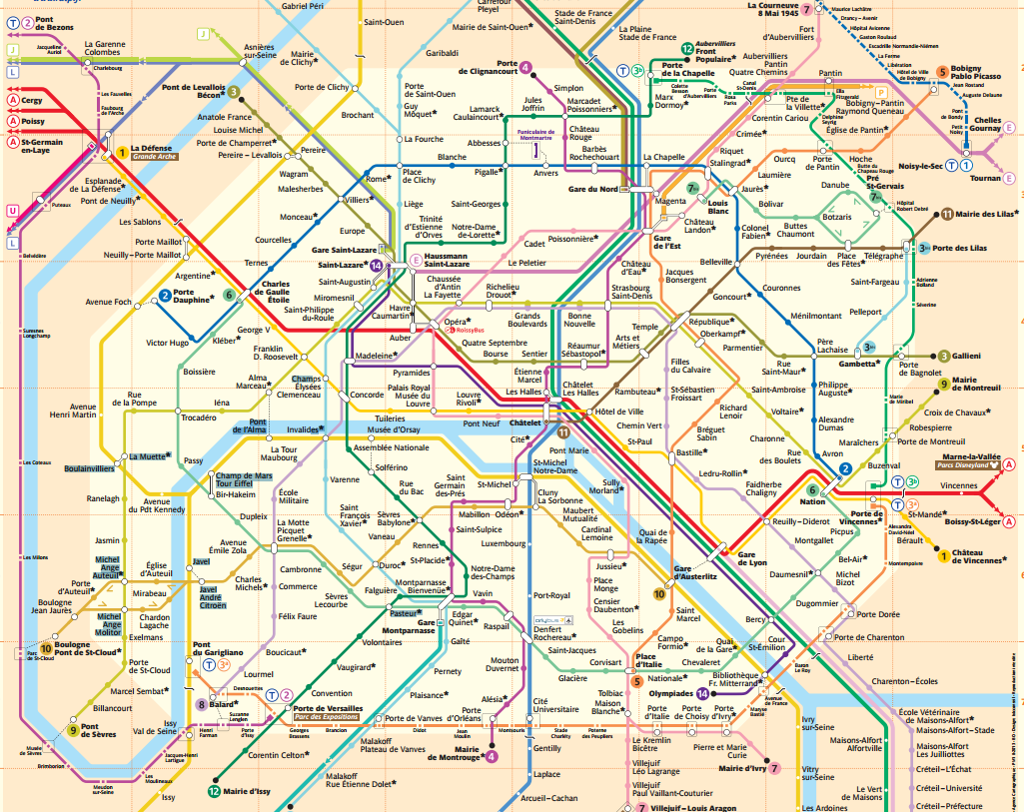 Paris ZigZag | Insolite & Secret | La carte du Métro Littéraire