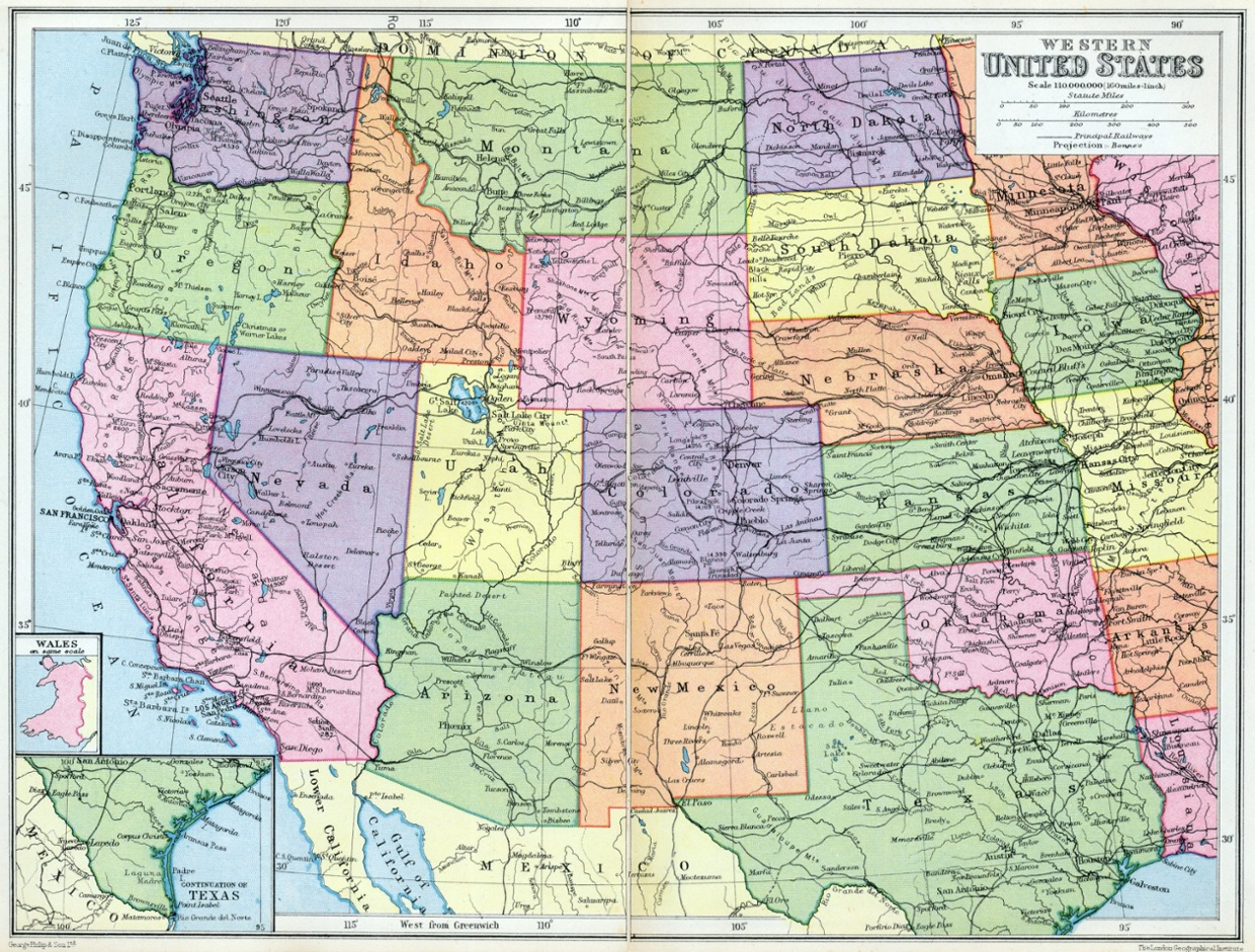 Western United States Public Domain Maps By PAT The Free Open - Us map western region