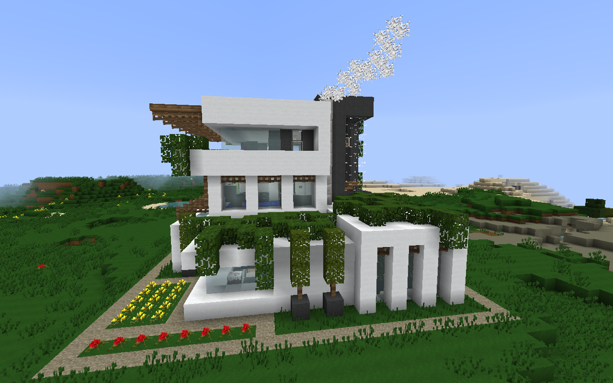 Minecraft modern house tips thinglink for Home design xbox
