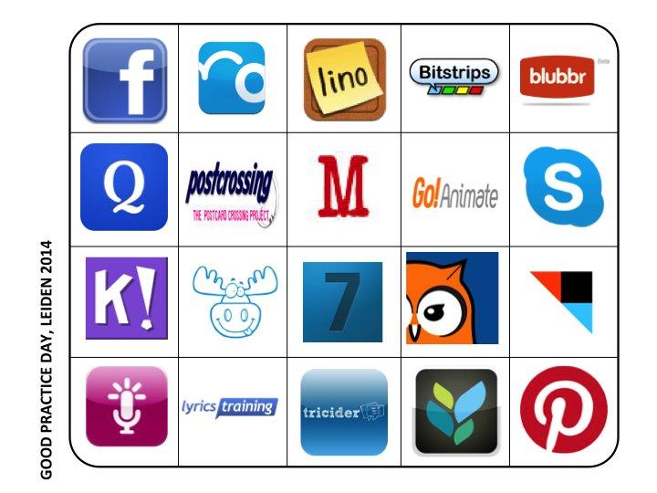 Good Practice Day Talen, Leiden 2014, social media bingo