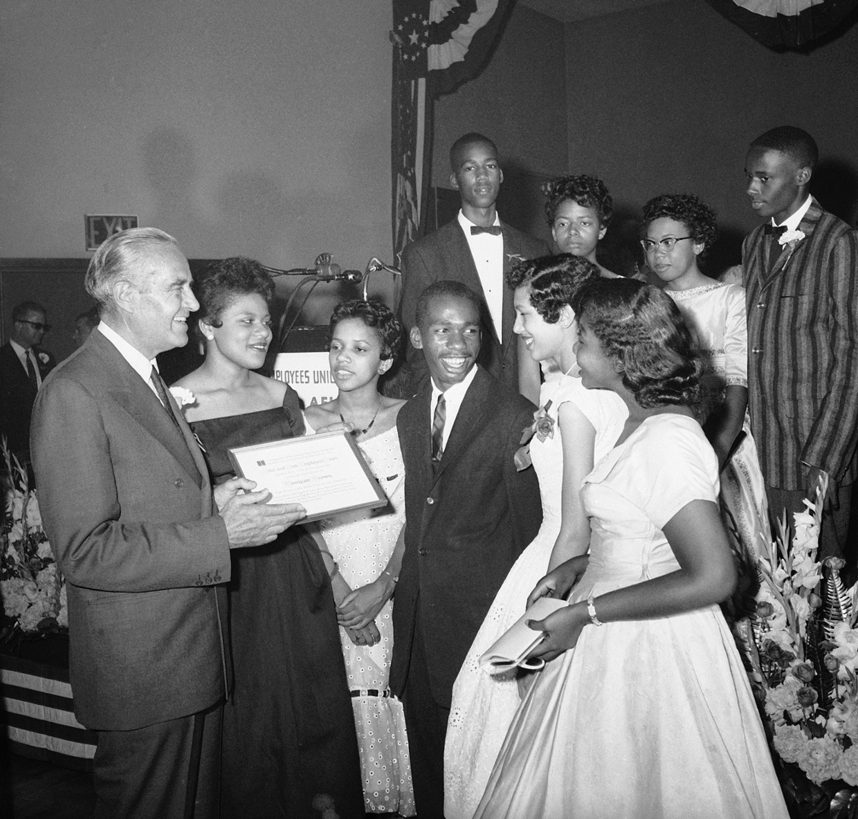 little rock nine The little rock nine was a group of black students from little rock, ark, who were enrolled in previously whites-only little rock central high school in 1957 after segregation in educational facilities was deemed unconstitutional by the us supreme court.