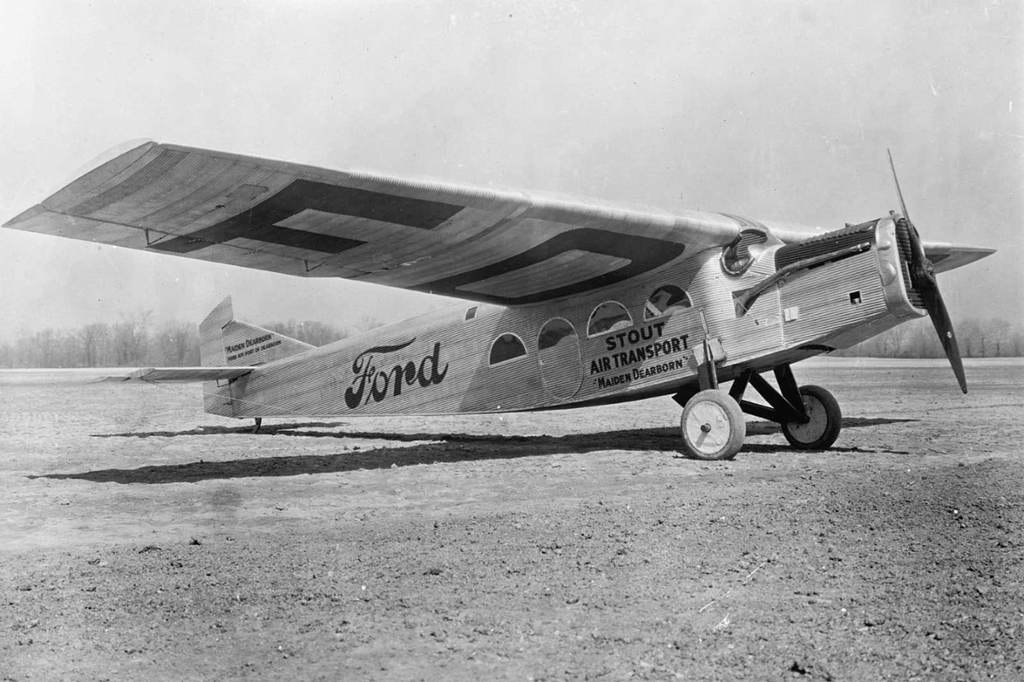 Ford airplane thinglink for Ford motor company history background