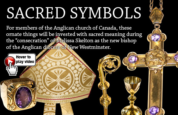 Ornate objects transform into sacred symbols at bishop's consecration