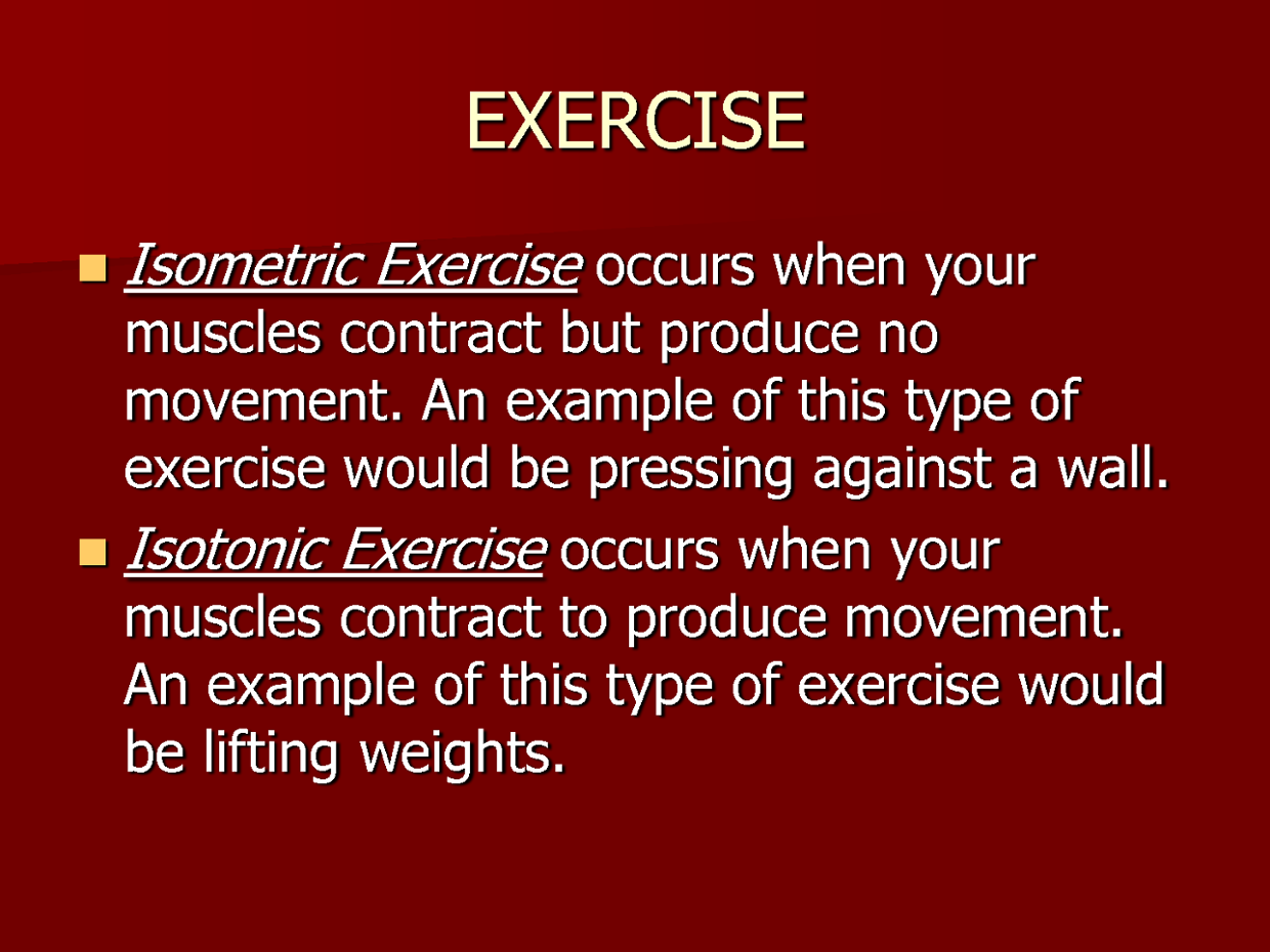 💌 Isometric and isotonic exercises examples | What Is The
